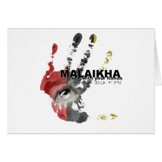 Malaikha - vea con sus manos tarjeta de felicitación