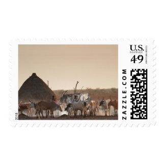 Malakal, village of Dinka ethnic group Stamp