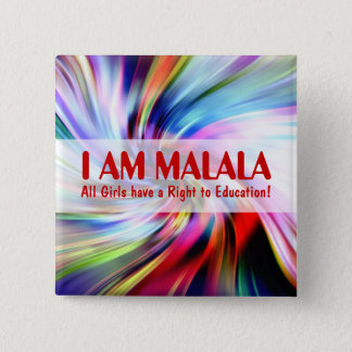 Malala Day for Girls Education Button