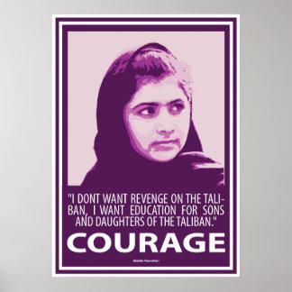 Malala - imagen del valor (series púrpuras) póster
