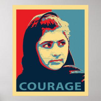 Malala Yousafzai - una imagen del valor Póster