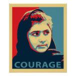 Malala Yousafzai - una imagen del valor Posters