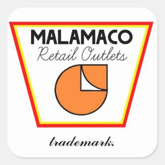 MalamaCo Retail Outlets Signature™ Sticker. Square Sticker