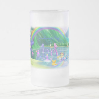 Malamite Tag! Frosted Glass Beer Mug