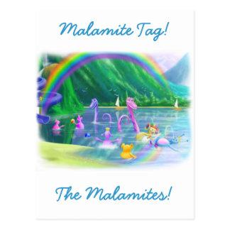 Malamite Tag Postcard