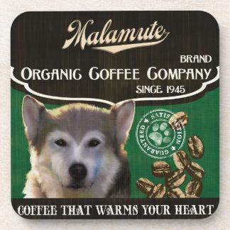 Malamute Brand – Organic Coffee Company Coasters