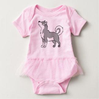 Malamute de Alaska gris Body Para Bebé
