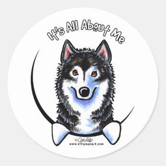 Malamute de Alaska IAAM Etiquetas Redondas
