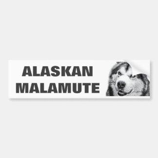 MALAMUTE DE ALASKA PEGATINA PARA AUTO