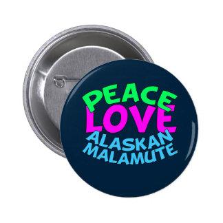Malamute de Alaska Pin Redondo De 2 Pulgadas