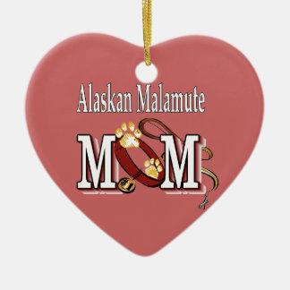 Malamute de Alaska, regalos de la MAMÁ Adorno De Cerámica En Forma De Corazón