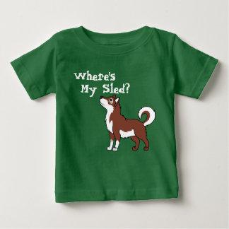 Malamute de Alaska rojo Playera Para Bebé
