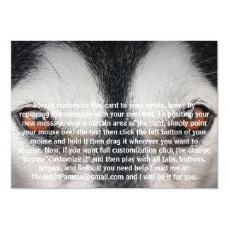 Malamute Dog Brown Eyes Custom Invitations