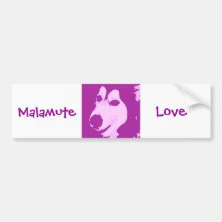 Malamute Dog Car Bumper Sticker