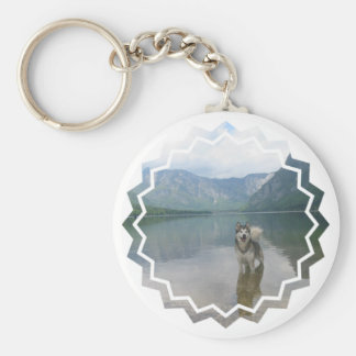 Malamute Dog Keychain