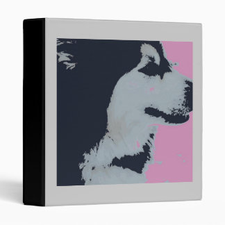 Malamute Dog Pop Art 3 Ring Binder