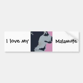 Malamute Dog Pop Art Car Bumper Sticker