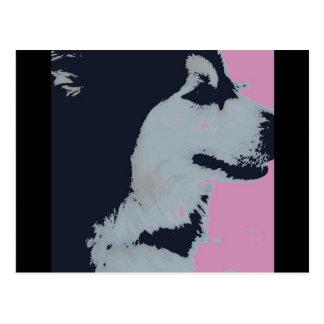 Malamute Dog Pop Art Postcard