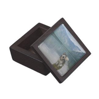 Malamute Dog Small Gift Box Premium Keepsake Boxes