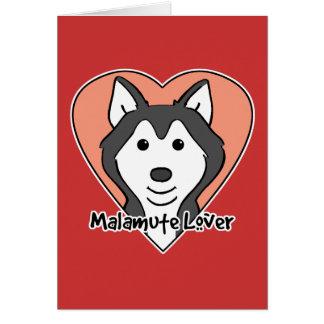 Malamute Lover Greeting Card