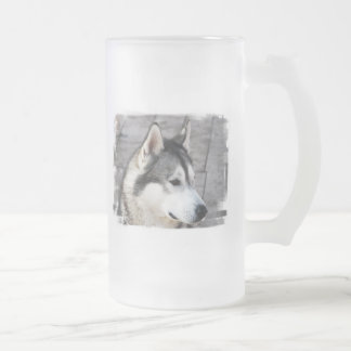 Malamute Photo Frosted Beer Mug