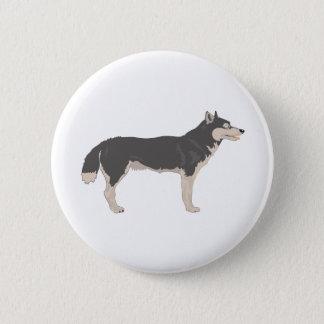 Malamute Pinback Button