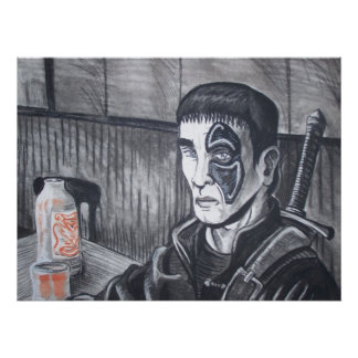 Malander at Fallon's End (charcoal reprint) Poster