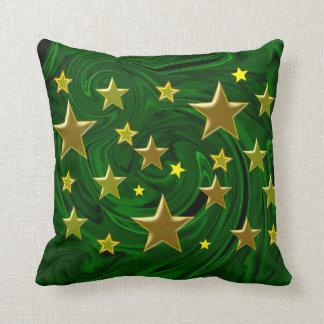 malaquita de oro del verde de la textura de las cojín decorativo