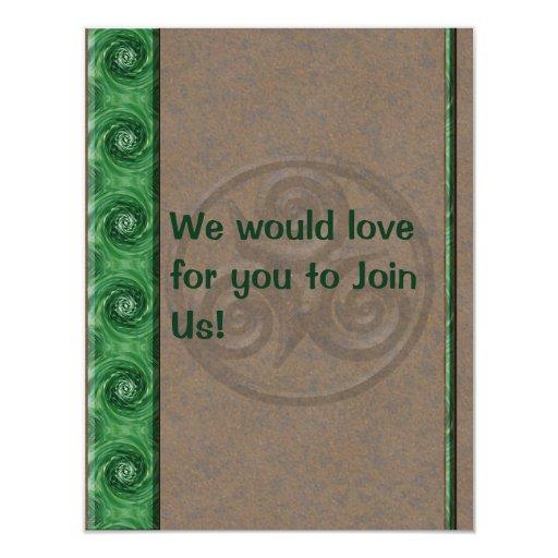 Malaquita Triskel Invitación 10,8 X 13,9 Cm