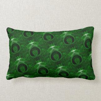 malaquita verde de la textura cojín lumbar