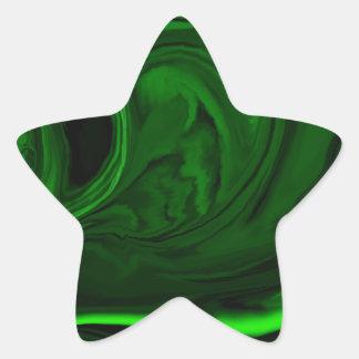 malaquita verde de la textura pegatina en forma de estrella