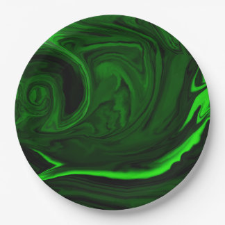 malaquita verde de la textura platos de papel