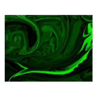 malaquita verde de la textura postales