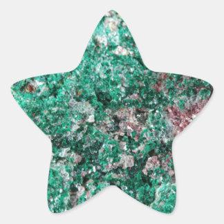 Malaquita y cobre pegatina en forma de estrella