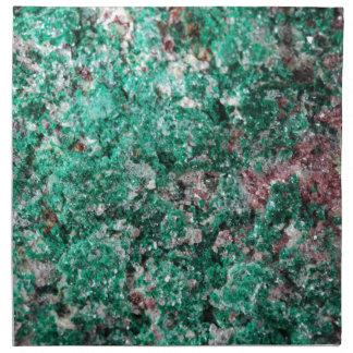 Malaquita y cobre servilleta imprimida