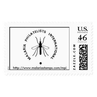 Malaria Philatelists International Logo URL Postage Stamp