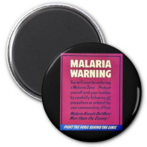 Malaria Warning Fridge Magnet