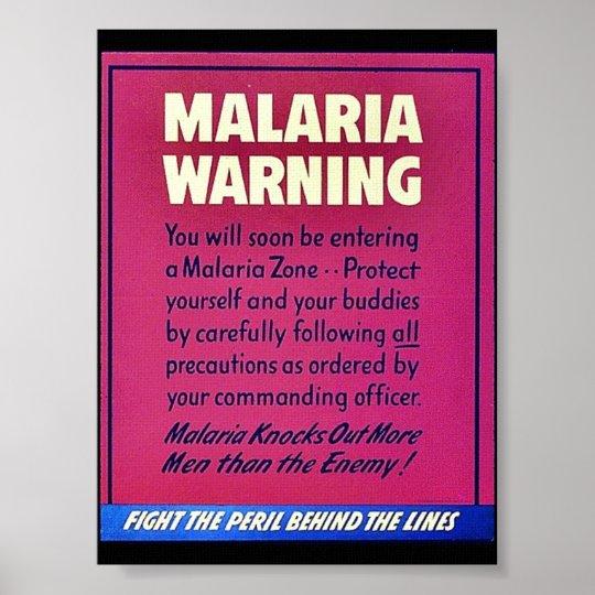 Malaria Warning Poster