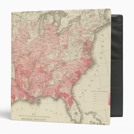 Malarial Deaths, Statistical US Lithograph Vinyl Binder