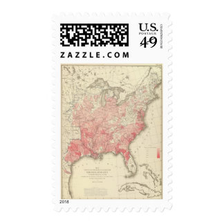 Malarial Deaths, Statistical US Lithograph Stamp