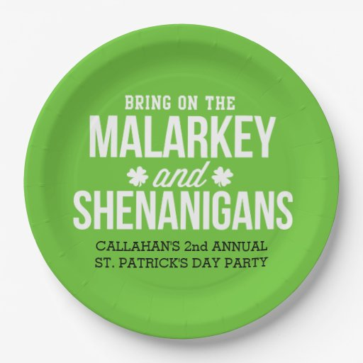 Malarkey & Shenanigans Custom Paper Plates