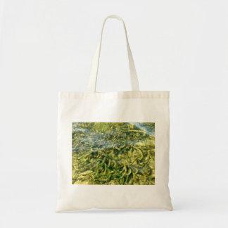 Malas hierbas del agua bajo fondo del agua bolsas de mano