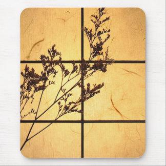 Malas hierbas en el papel de arroz mouse pads