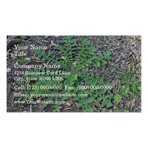 Malas hierbas Flourishing Tarjetas De Negocios