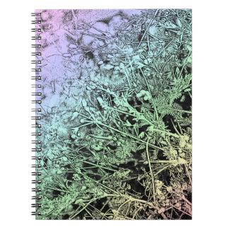 Malas hierbas multicoloras libros de apuntes