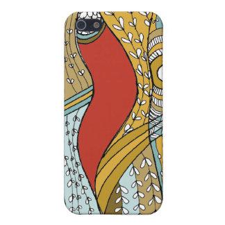 Malas hierbas, rojo y moreno del mar iPhone 5 protectores