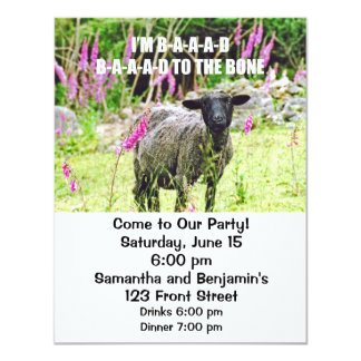 Malas ovejas negras invitaciones personalizada