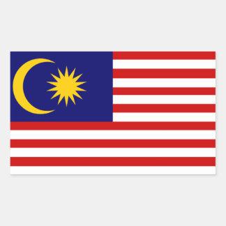 Malasia: Bandera de Malasia Pegatina Rectangular