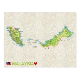 ♥ Malasia de las POSTALES del MAPA
