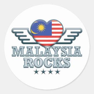 Malasia oscila v2 etiquetas redondas
